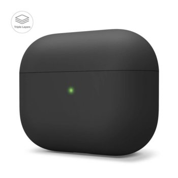 Калъф за слушалки Elago Liquid Hybrid Case EAPPRH-BK, за Apple AirPods Pro, силиконов, черен image