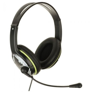 Слушалки Genius HS-400A, микрофон, зелени image