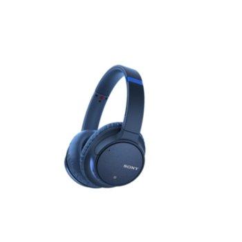 Слушалки Sony WH-CH700N, Bluetooth, микрофон, Noise Cancelling, Google/Siri voice assistant, сини image