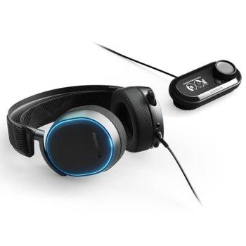 Слушалки SteelSeries Arctis Pro + GameDAC, DTS, микрофон, честотен диапазон 10-40 000, RGB Illumination, черни image