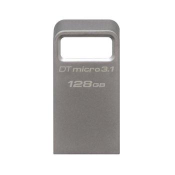 Памет 128GB USB Flash Drive, Kingston DataTraveler Micro 3.1, USB 3.1 Gen 1, сива image