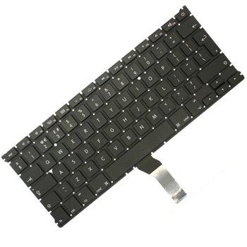 Клавиатура за Apple Macbook AIR A1369/A1466, UI, черна, без рамка image