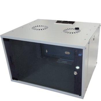 Комуникационен шкаф MIRSAN MR.WTC07U45.02 ComboBox, 540 x 350 x 450 мм, D=450 мм / 7U, бял, за стена image