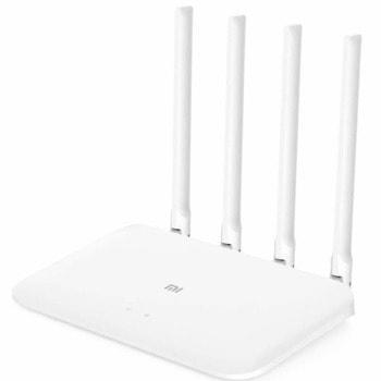 Рутер Xiaomi Mi Router 4A Giga Version DVB4224GL, 1167Mpbs, 2.4GHz (300 Mbps)/5.0GHz (867 Mbps), Wireless AC, 2x LAN ports 10/100/1000Mbps, 1x WAN port 10/100/1000Mbps, 4 външни антени image