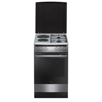 Готварска печка Amica 508ME2.35EHZPPXV, ток/газ, клас А, 62 л. обем, 4 нагревателни зони (2 газ/2 ток), 8 функции на фурната, черна image