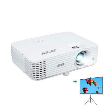 """Проектор Acer P1555 (MR.JRM11.001) в комплект с екран Acer T82-W01MW (82.5""""), DLP, Full HD (1920 x 1080), 10,000:1, 4000 lm, HDMI, VGA, USB, AUX image"""