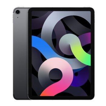 "Таблет Apple iPad Air 4 Cellular (MYH22HC/A)(сив), 10.9"" (27.69 cm) Retina дисплей, шестядрен A14 Bionic, 4GB RAM, 256GB Flash памет, 12.0 & 7.0 MPix камера, Ipad OS image"
