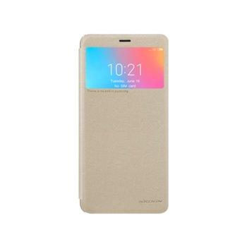 Калъф за Xiaomi Redmi Note 6A, flip cover, кожен, Nillkin Gold, златист image