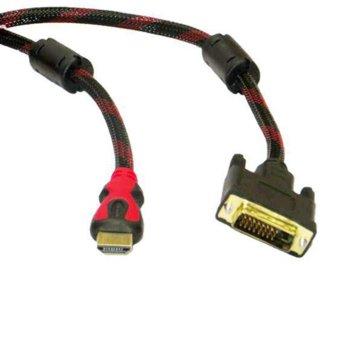 Кабел HDMI(м) към DVI(м), 5.0m, черен image