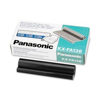 ТТ ЛЕНТА ЗА PANASONIC KX-FM 131/330/KX-FP 105/300 - 2 rolls - P№ KX-FA136 - заб.: 2x100m. image