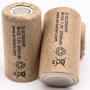 Акумулаторна батерия Energy Technology D-SC2000HPX, SC, 1.2V, 2000mAh, Ni-Cd, 1 брой image