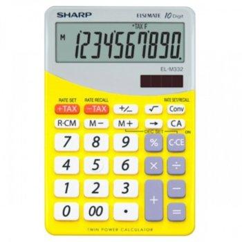 Калкулатор SHARP EL-M332, 10 разряден дисплей, жълт image