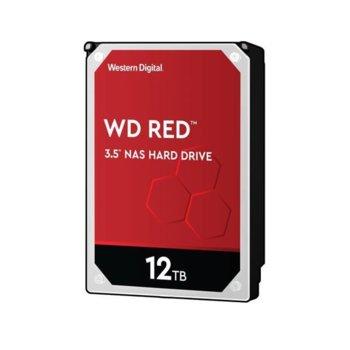 """Твърд диск 12TB WD Red NAS, SATA 6Gb/s, 5400 rpm, 64MB креш, 3.5"""" (8.89 cm) image"""