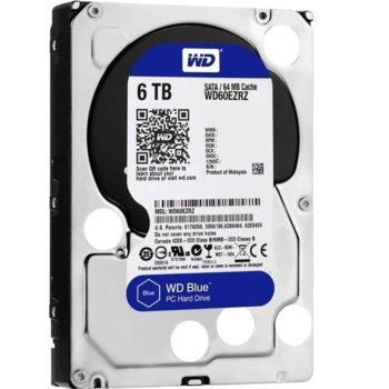 """Твърд диск 6TB WD Blue PC, SATA 6 Gb/s, 5400 rpm, 64MB, 3.5"""" (8.89 cm) image"""