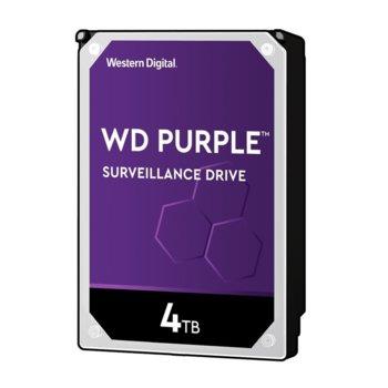 "Твърд диск 4TB Western Digital Purple WD40PURZ, SATA 6Gb/s, 5400rpm, 64 MB, 3.5"" (8.89 cm) image"