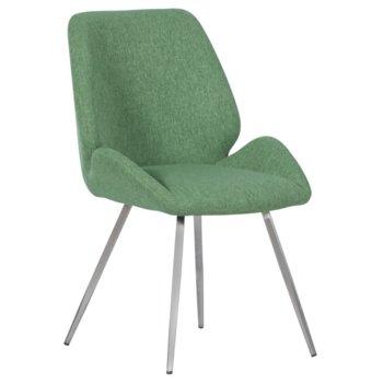 Трапезен стол Carmen Kielce, до 100кг. макс. тегло, дамаска, метална база, зелен image