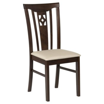 Трапезен стол Carmen DIEGO, какао/екрю image