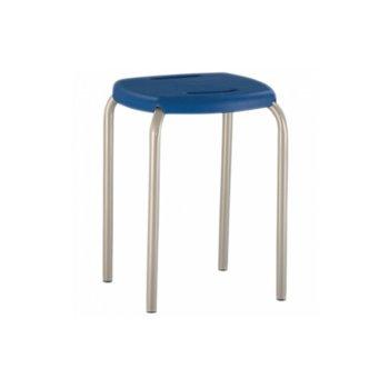 Табуретка BOOM, праховобоядисани крака, разглобяема, синя image