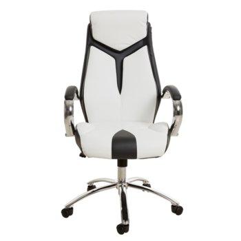 Директорски стол RFG Storm (ON4010140266), екокожа, хромирана база, 120 кг. максимално натоварване, бяло/черен image