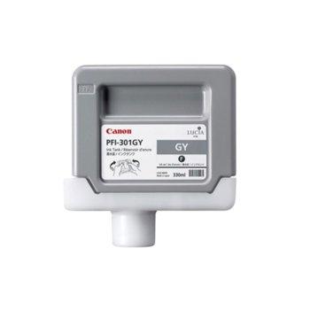 Мастило за Canon PF8000 and iPF9000 - Grey - 1495B001 - Ink Tank PFI-301 - 330ml image