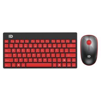 Комплект клавиатура и мишка D 1500, безжични, оптична(1500dpi), USB, черни image