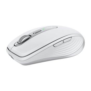 Мишка Logitech MX Anywhere 3, оптична (4000 dpi), безжична, USB, бяло-сива image