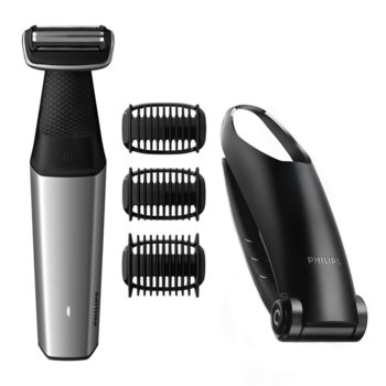 Tример Philips Series 5000 BG5020/15, водоустойчив, 3 гребена с щракване, 3, 5, 7 мм, 60 мин. безжична работа/1 ч. зареждане, приставка за гръб, черен image