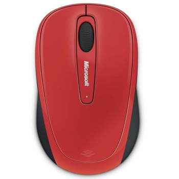 "Мишка Microsoft 3500 ""Flame Red Gloss"", BlueTrack, безжична image"