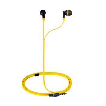 "Слушалки Amplify Revolutionary AM1001/YG, сиво-жълти, тип ""тапи"" image"