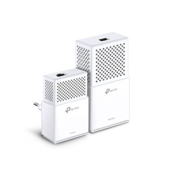 Powerline адаптер TP-Link TL-WPA7510KIT, 750Mbps, до 300м обхват, 1x 10/100/1000 Ethernet порт, 2 устройства image