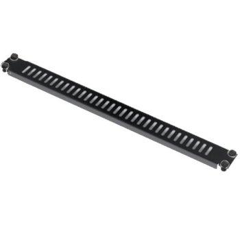 "19"" Вентилиран панел MIRSAN MR.PST1U.01, 482 x 15 x 44 мм / 1U, toolless монтаж, черен image"