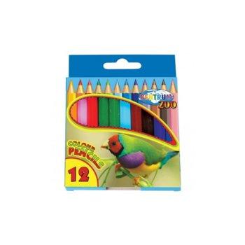 Цветни моливи Centrum Zoo, 12бр. в опаковка image