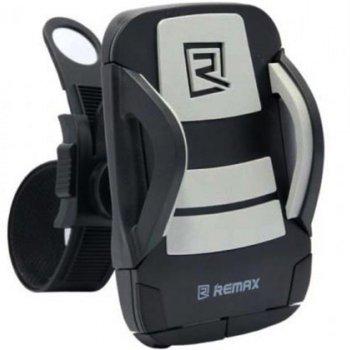 Стойка за колело Remax RM-C08, за мобилни устройства от 3.5 до 6 инча, универсална, черна image