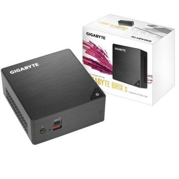 Мини компютър Barebone Gigabyte Brix BRi7H-8550, четириядрен Kaby Lake R Intel Core i7-8550U 1.8/4.0 GHz, 8GB DDR4 (2x SODIMM DDR4, до 32GB), 240GB SSD (1x M.2, 1x SATA 3), Wi-Fi, LAN, Bluetooth, USB-C 3.1 image
