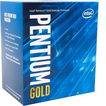 Процесор Intel Pentium Gold G6405, двуядрен (4.1GHz, 4MB Cache, 1050MHz графична честота, LGA1200) BOX, с охлаждане image