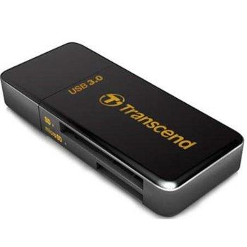 Четец за карти Transcend RDF5, USB 3.0, SDHC (UHS-I), SDXC (UHS-I), microSD, microSDHC (UHS-I), microSDXC (UHS-I), черен image