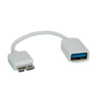 Roline USB Micro B(10-pin) - USB 3.0 A 0.15m product