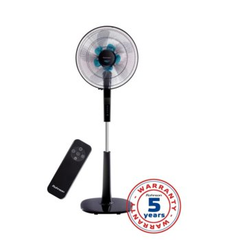 Настолен вентилатор Rohnson R-860, 26 скорости, 3 режима, LED дисплей, таймер, 40 см. диаметър, 60W, черен image
