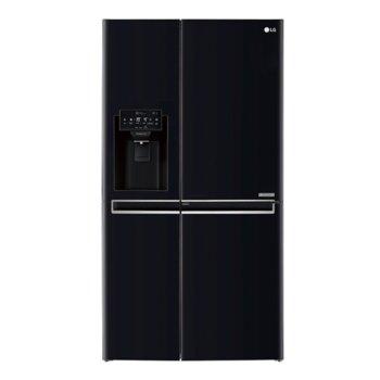 Хладилник с фризер LG GSJ760WBXV, клас F, 601 л. общ обем, свободностоящ, 419 kWh/годишно, Total No Frost, LED дисплей, диспенсър за вода и лед, черен image