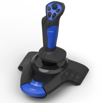 Джойстик Hama Urage Airborne 300, жичен, 8 програмируеми бутона, вибрация, син/черен image