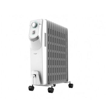 Маслен радиатор Cecotec Ready Warm 5850, 2500W, 3 степени на мощност, технология WarmSpace, за помещения до 20m2, защита от прегряване, бял image