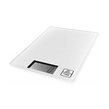 Кухненски кантар GORENJE KT 05 W, дигитален, до 5кг, Сензорно управление, LCD дисплей, Автоматично изключване, Закалено стъкло, Ултра слим дизайн, бял image