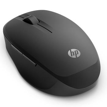 Мишка HP Wireless Mouse 300 Dual (6CR71AA), оптична (3600 dpi), безжична, Bluetooth, 2 бутона, черна image