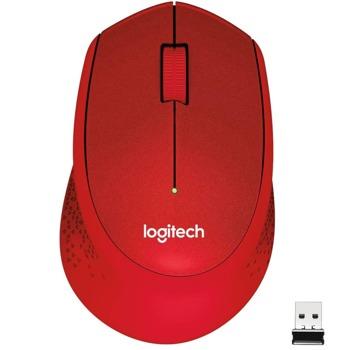 Мишка Logitech M330 Silent Plus, оптична (1000 dpi), безжична, червена image
