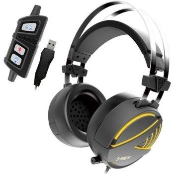 Слушалки Gamdias HEBE M1 RGB, микрофон, 7.1 surround, USB, сиви image
