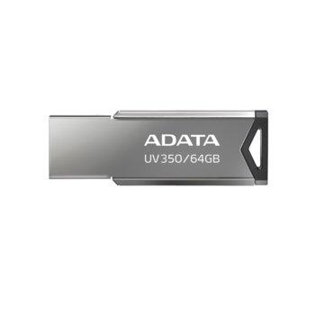 Памет 64GB USB Flash Drive, A-Data UV350, USB 3.2 Gen 1, сребриста image