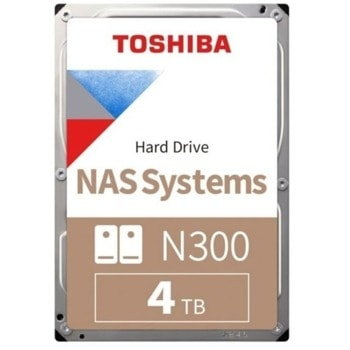 """Твърд диск 4TB Toshiba N300 High-Reliability Hard Drive, SATA 6Gb/s, 7200rpm, 3.5"""" (8.89cm), Bulk image"""