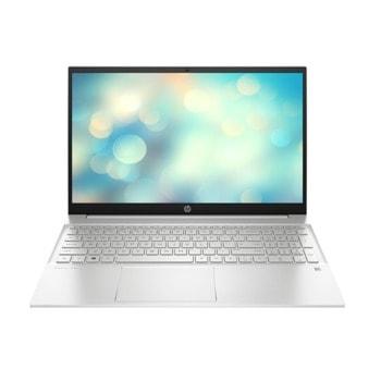 "Лаптоп HP Pavilion 15-eg0014nu (2U2D5EA)(сребрист), четириядрен Tiger Lake Intel Core i7-1165G7 2.8/4.7 GHz, 15.6"" (39.62 cm) Full HD IPS Anti-Glare Display, (HDMI), 16GB DDR4, 512GB SSD, 1x USB Type-C, Free DOS image"