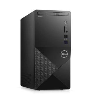 Настолен компютър Dell Vostro 3888 MT (N601VD3888EMEA01_2101), четириядрен Comet Lake Intel Core i3-10100 3.6/4.3 GHz, 8GB DDR4, 1TB HDD, 4x USB 3.1 Gen 1, клавиатура и мишка, Windows 10 Pro image