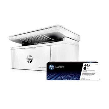 Мултифункционално лазерно устройство HP LaserJet Pro MFP M28w в комплект с тонер касета CF244A (1000 копия), цветен, принтер/копир/скенер, 600 x 600 dpi, 18 стр/мин, USB, А4, Wi-Fi image